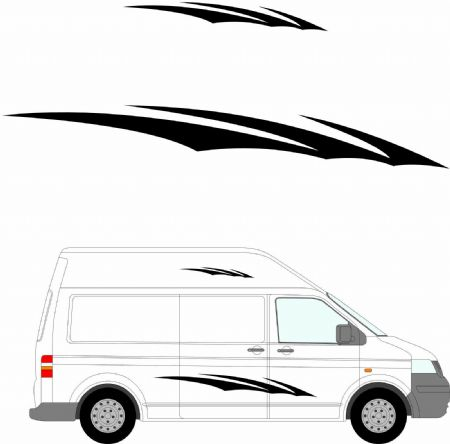 (No.145) MOTORHOME GRAPHICS STICKERS DECALS CAMPER VAN CARAVAN UNIVERSAL FITTING